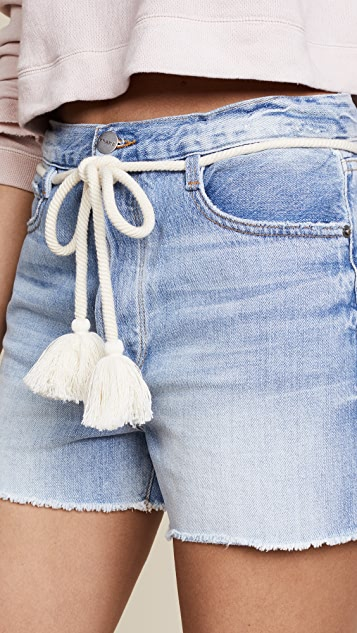 FRAME Le Original Shorts with Tassel Tie