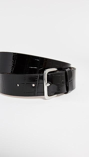 FRAME Patent Croc Belt