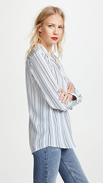 FRAME True Silk Long Sleeve Top