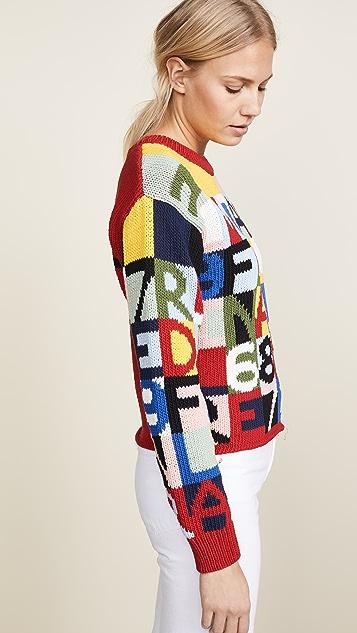 FRAME Frame Letter Sweater