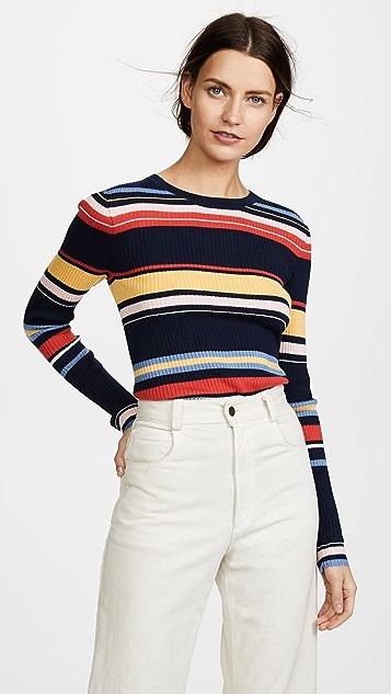 FRAME Panel Stripe Long Sleeve Top