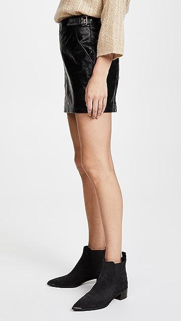 FRAME Buckle Back Miniskirt