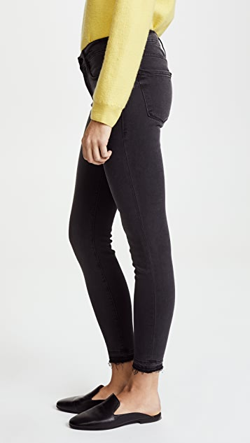 FRAME Le Skinny De Jeanne Crop Jeans with Released Hem