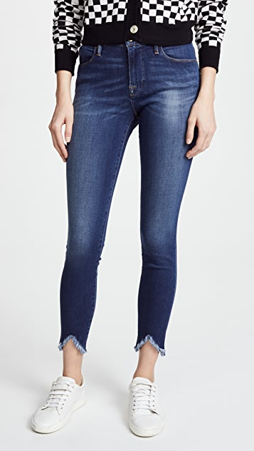 Frame Le High Skinny Jeans With Triangle Hem