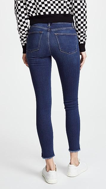 FRAME Le 三角形裤脚边高腰紧身牛仔裤