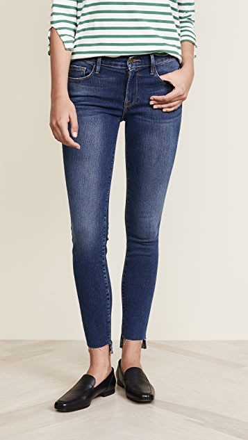 9e05bb383f2e8 FRAME Le Skinny De Jeanne Raw Stagger Jeans