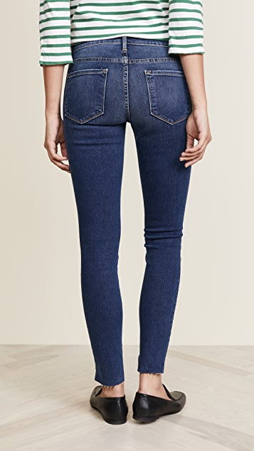 FRAME Le Skinny De Jeanne Raw Stagger Jeans