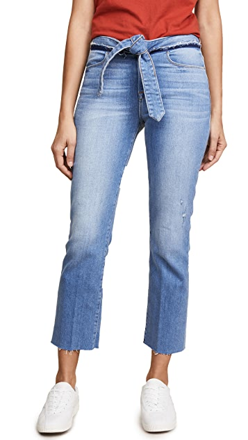 FRAME Le High Straight Jeans with Raw Edges