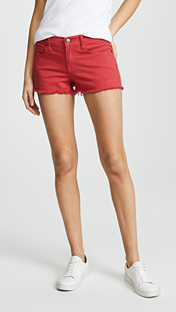 FRAME Le Cutoff Shorts - Vintage Red
