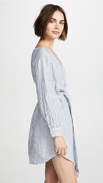 FRAME Belted Poplin Dress