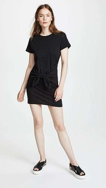 FRAME Knot Tee Dress