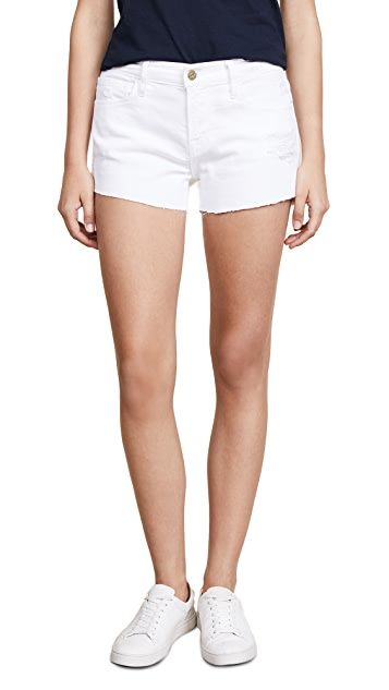 FRAME Le Cuttoff Shorts with Tulip Hem