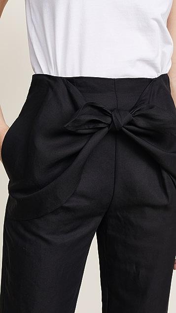 FRAME Overlap Knot Pants