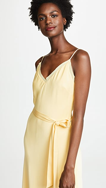 FRAME Tie Slip Dress