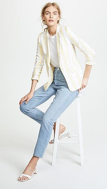 FRAME Linen Stripe Blazer