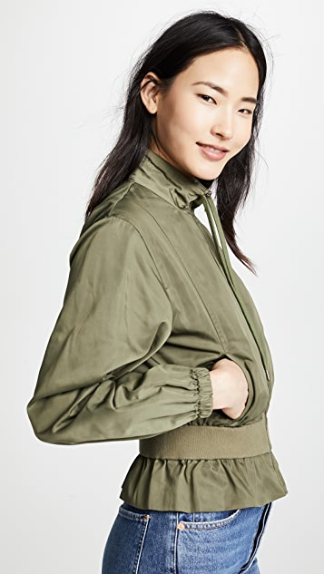 FRAME Cinched Crop Jacket