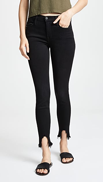 FRAME Le High Skinny Stiletto Hem Jeans