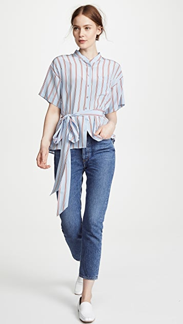 FRAME Lounge Stripe Top