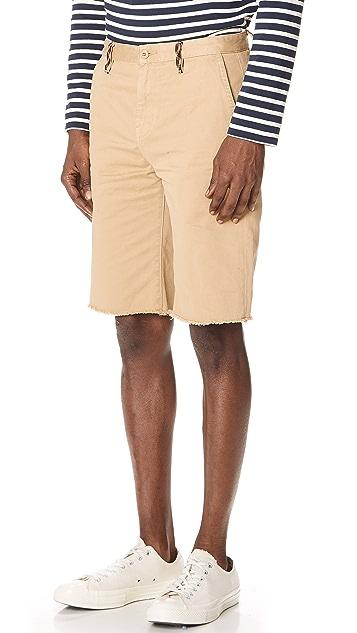 FRAME Raw Hem Shorts