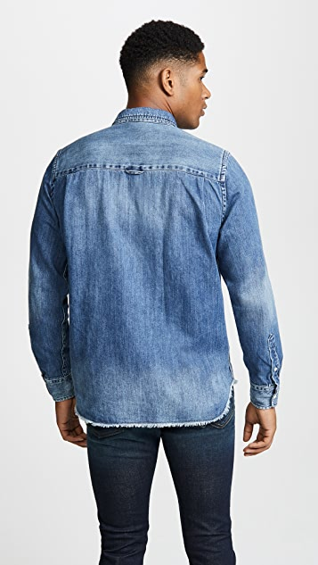 FRAME Raw Edge Denim Shirt