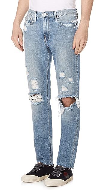 FRAME L'Homme Slim Raw Edge Jeans