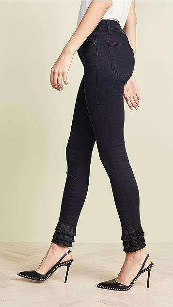 FRAME Le High Skinny Triple Fringe Jeans