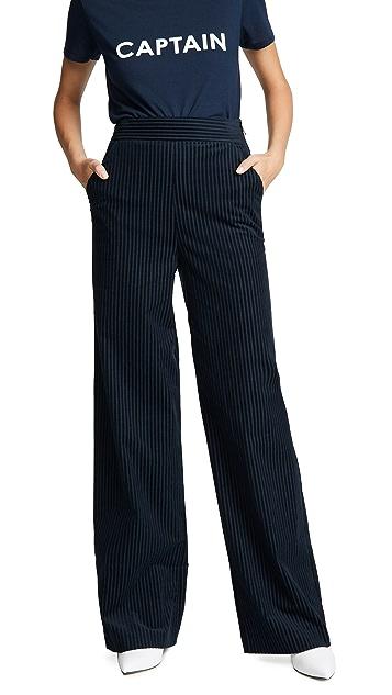 FRAME Fine Variegated Wide Leg Pants