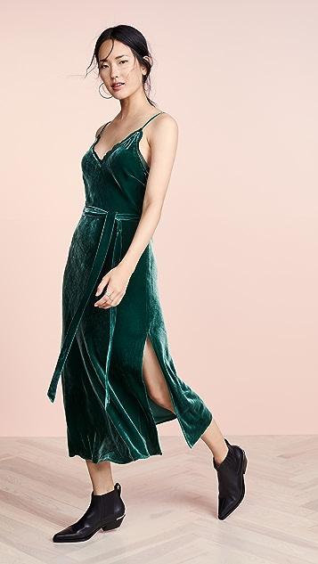 FRAME Velvet Slip Dress