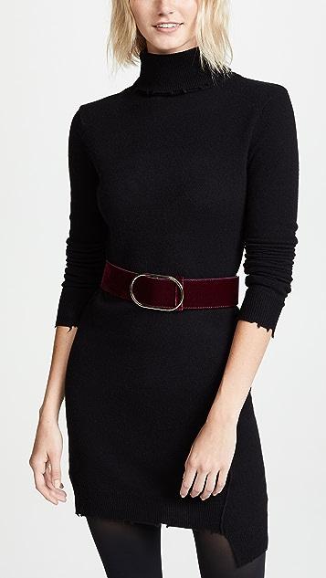 FRAME Oval Velvet Belt