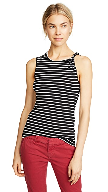 FRAME Knot Shoulder Tank Top