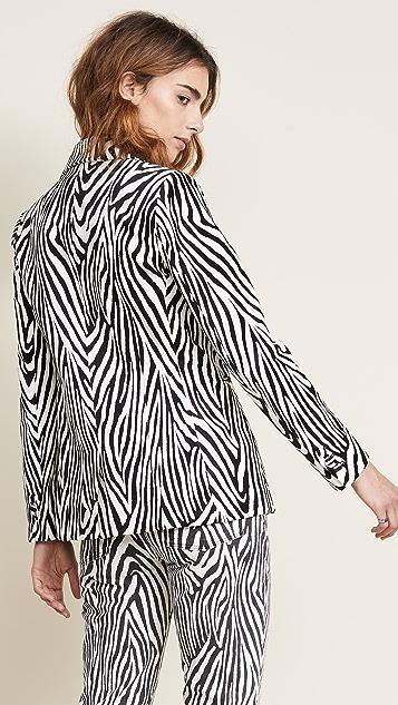 FRAME Zebra Blazer