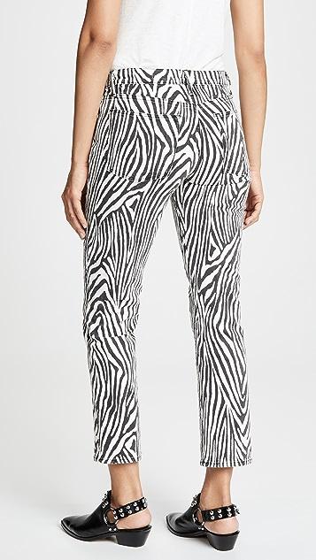 FRAME Прямые джинсы Le с высокой посадкой Zebra