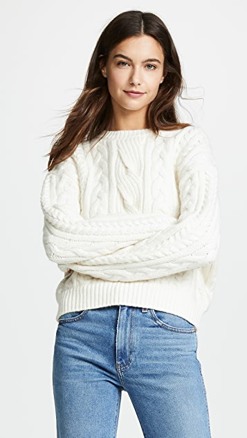 FRAME Cable Knit Sweater