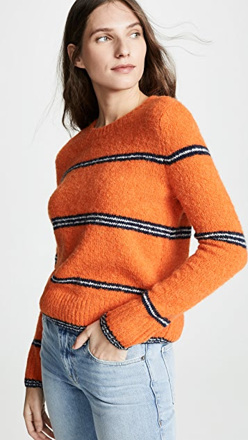 FRAME Stripe Mohair Sweater