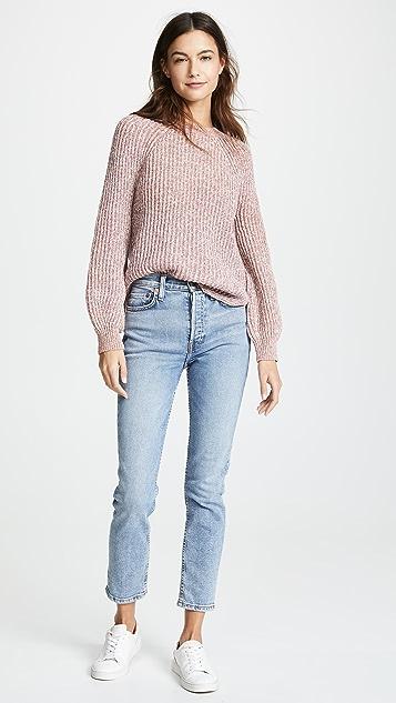 FRAME Marled Crew Sweater
