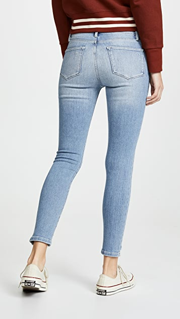 FRAME Le High Skinny Front Chew Jeans