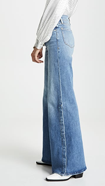 FRAME Le Palazzo Snap Away Jeans
