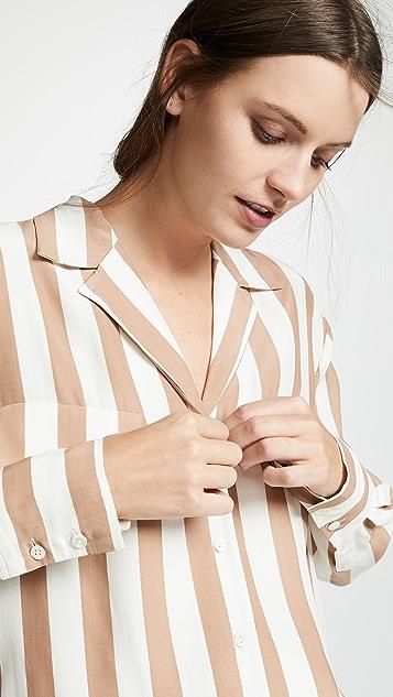 FRAME Шелковая рубашка на пуговицах с карманом