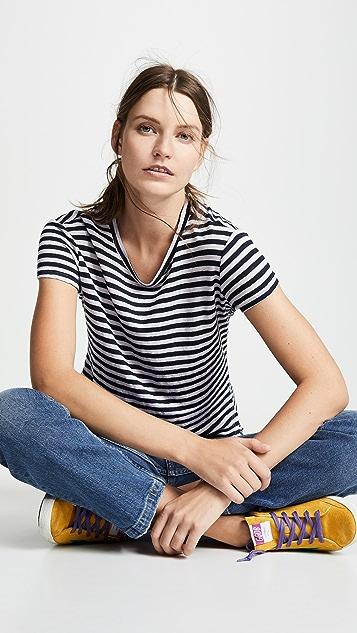 FRAME Классическая футболка с округлым вырезом
