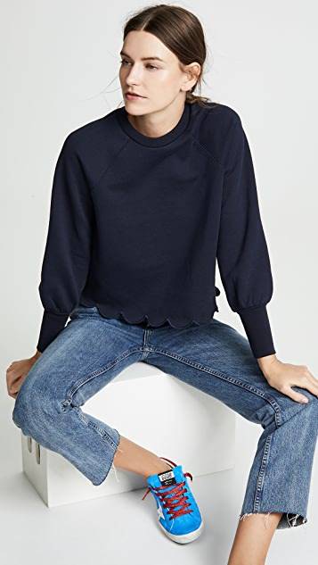 Frame Scallop Crew Neck Sweatshirt