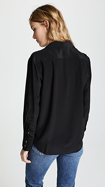 FRAME Pocket Silk Blouse