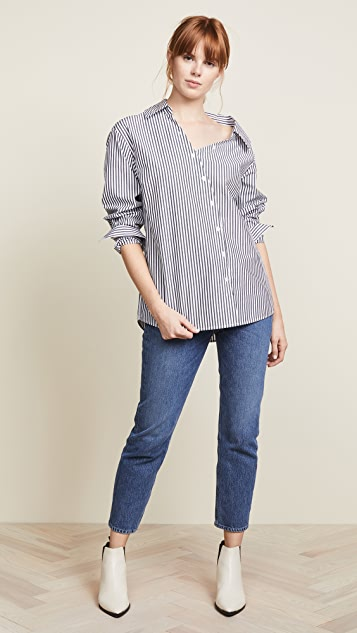 FRAME Aslant Button Down Shirt