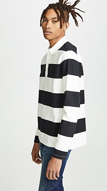 FRAME Striped Rugby Shirt