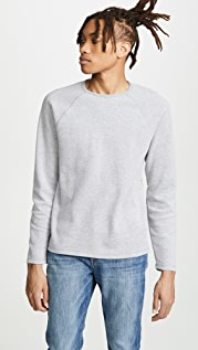 FRAME Long Sleeve Raglan Crew Neck Sweatshirt