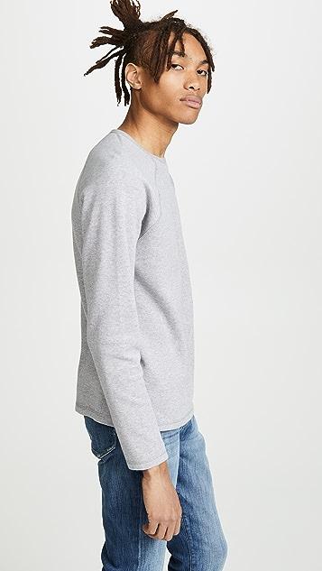 FRAME Long Sleeve Raglan Crew Neck Sweatshirt