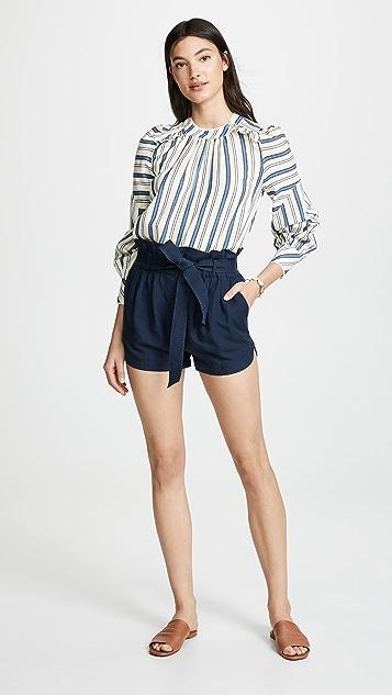 FRAME Paperbag Picket Shorts