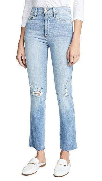 FRAME Le Sylvie Raw Edge Jeans