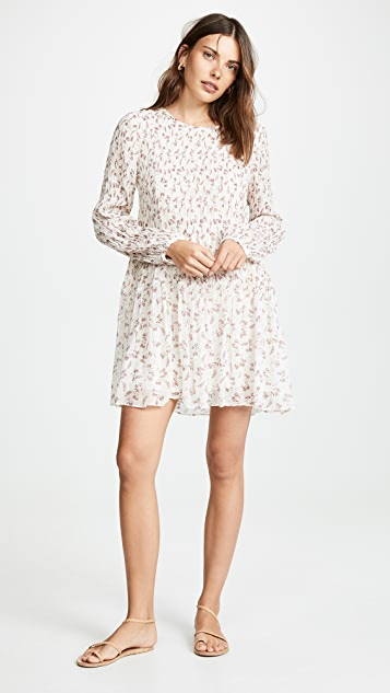 FRAME Платье со сборками и цветочным рисунком