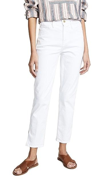 FRAME Le Sylvie Crop High Side Slit Jeans