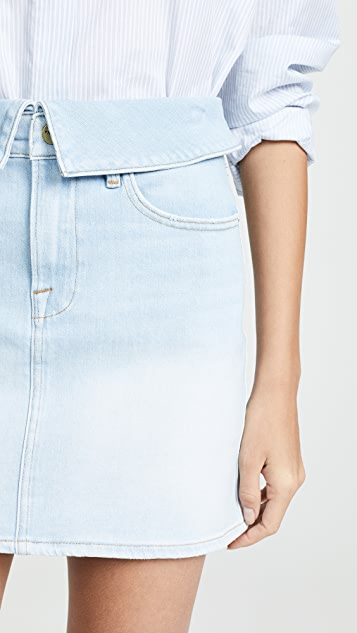 FRAME Le High Denim Miniskirt